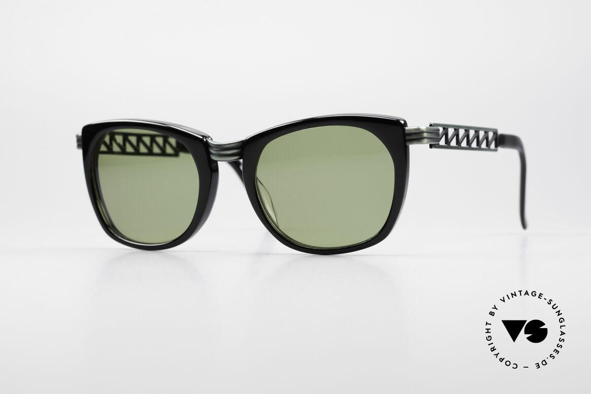 Jean Paul Gaultier 56-0272 90er Steampunk Sonnenbrille, vintage Designersonnenbrille von J.P. Gaultier, Passend für Herren und Damen