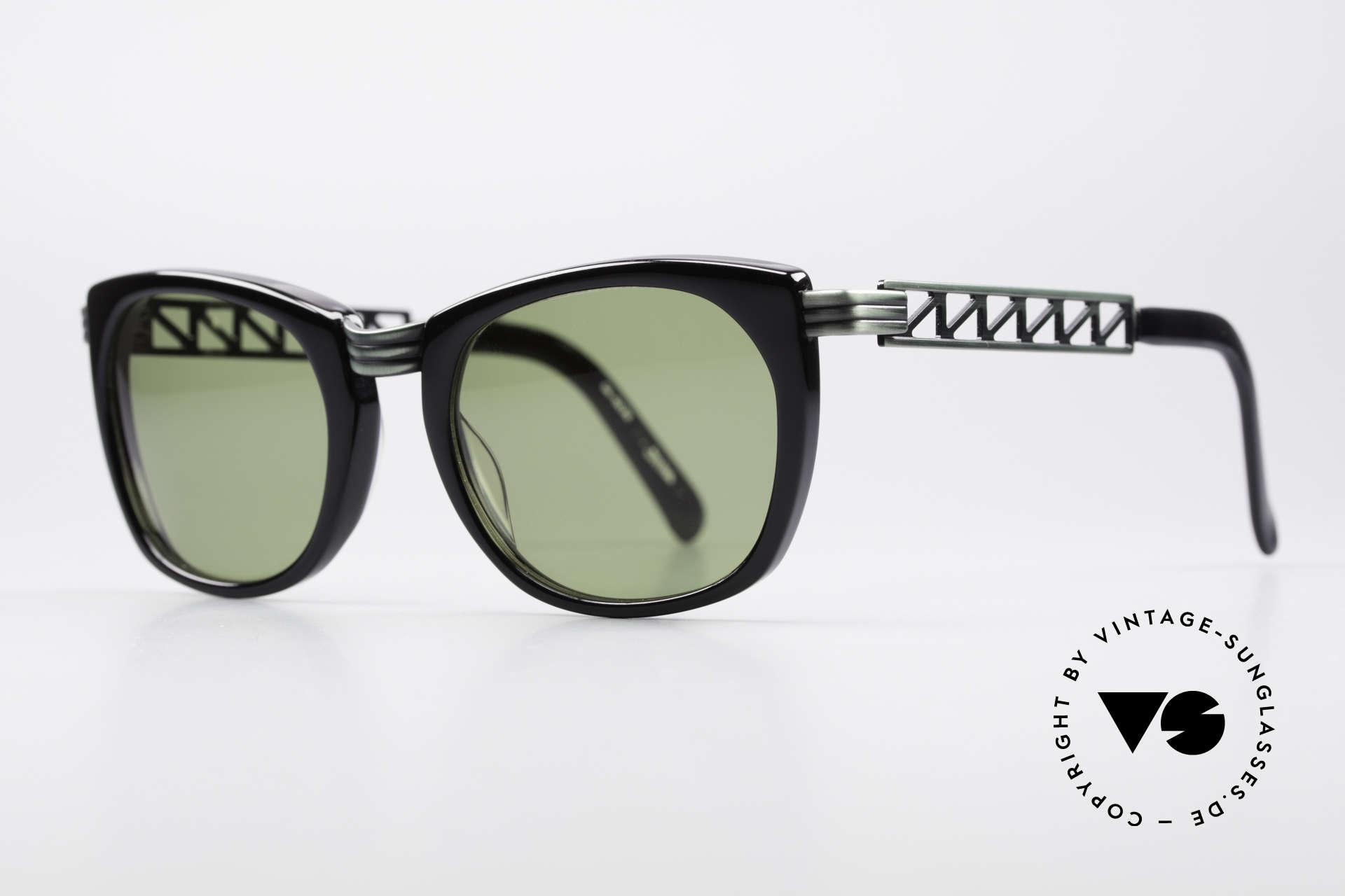 """Jean Paul Gaultier 56-0272 90er Steampunk Sonnenbrille, """"rusty green"""" Lackierung & grüne Sonnengläser, Passend für Herren und Damen"""