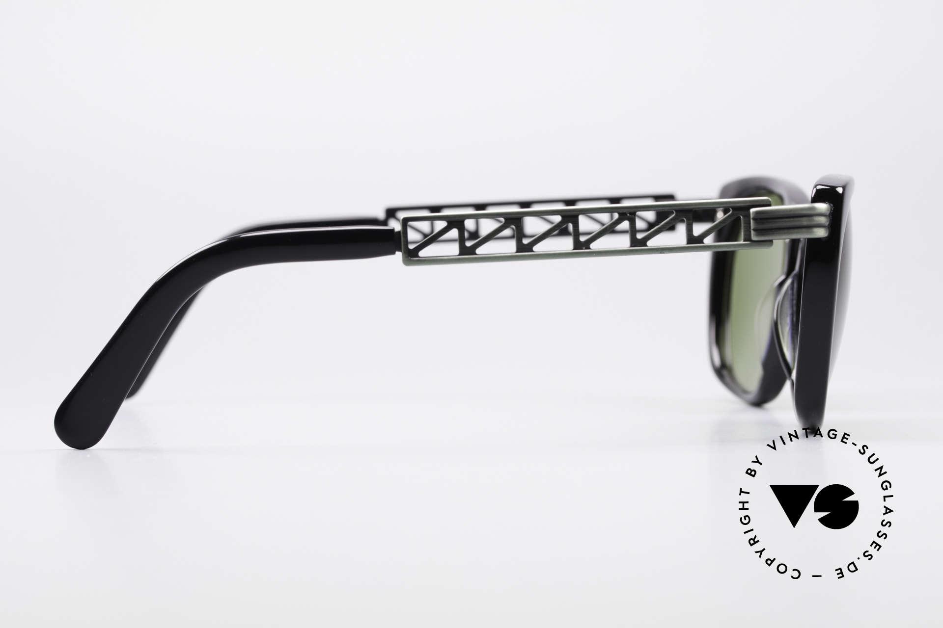 Jean Paul Gaultier 56-0272 90er Steampunk Sonnenbrille, Fassung kann ggf. auch optisch verglast werden, Passend für Herren und Damen