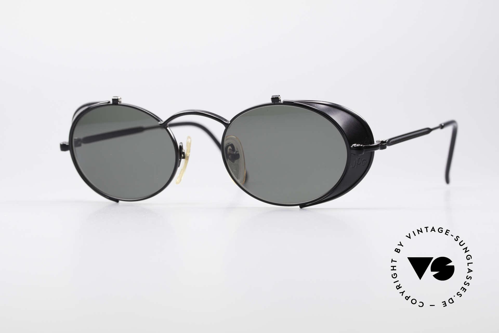 Jean Paul Gaultier 56-1175 Seitenscheiben Sonnenbrille, vintage GAULTIER Sonnenbrille aus den frühen 1990ern, Passend für Herren und Damen