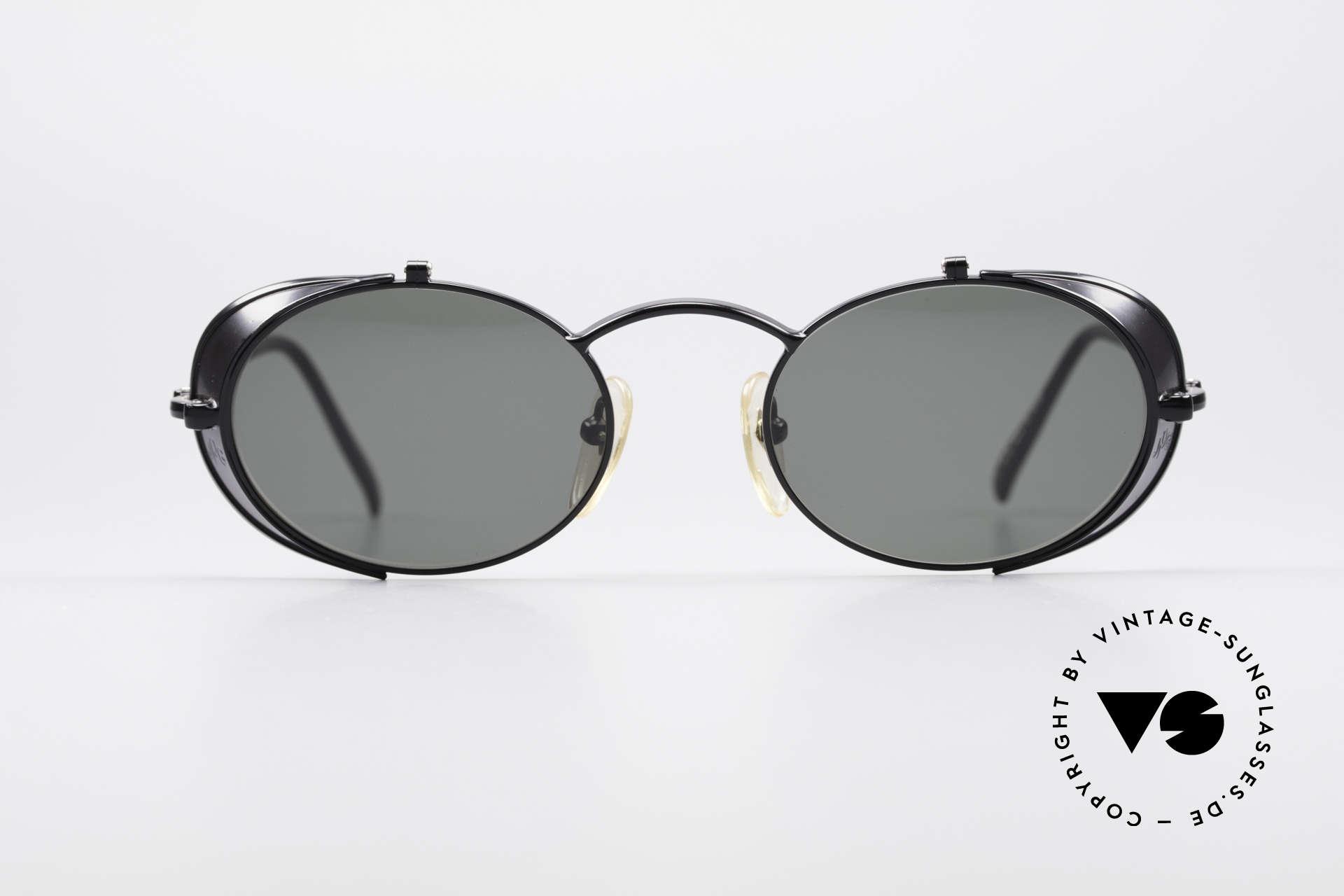 Jean Paul Gaultier 56-1175 Seitenscheiben Sonnenbrille, 'Steampunk-Sonnenbrille' des exzentrischen Designers, Passend für Herren und Damen
