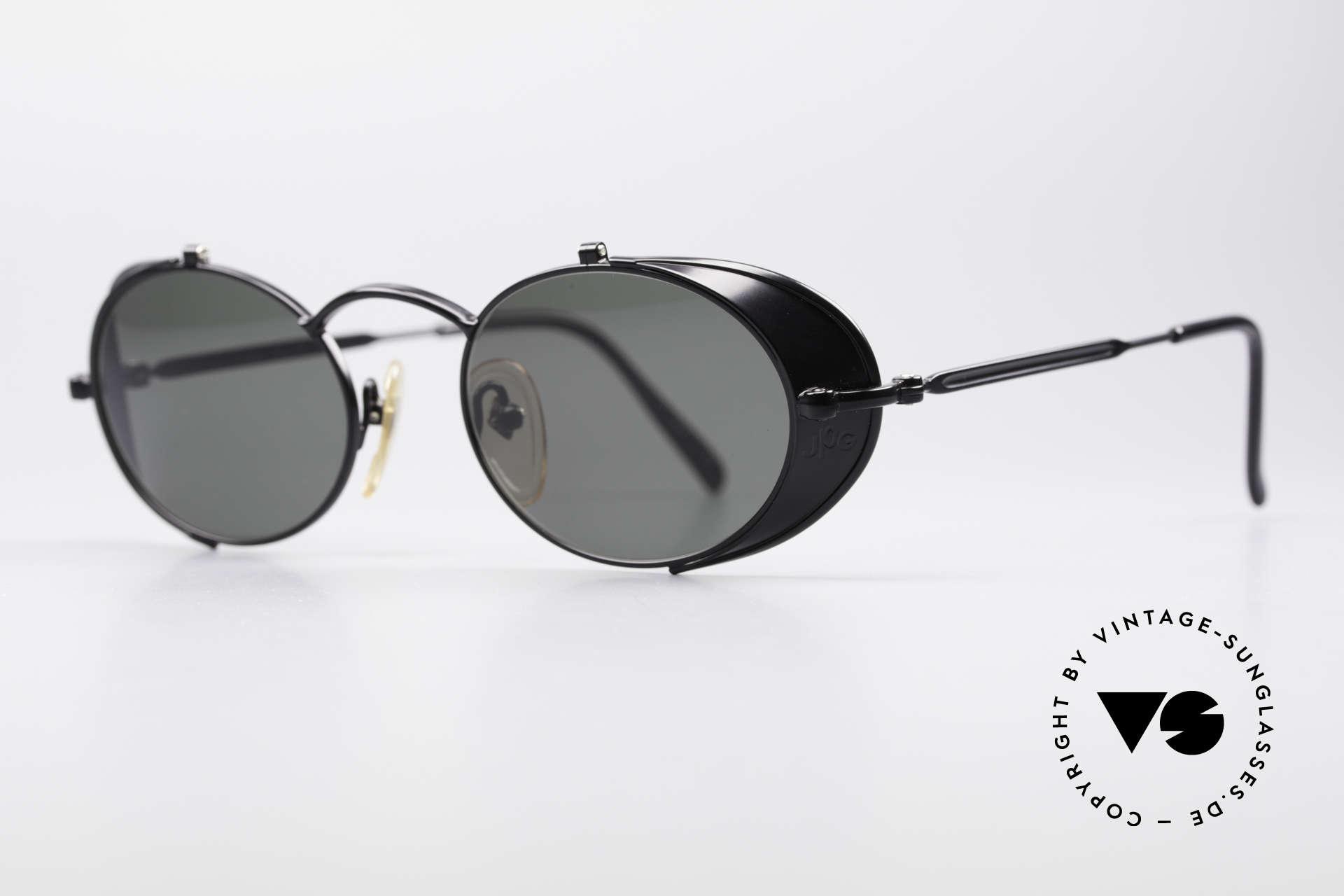 """Jean Paul Gaultier 56-1175 Seitenscheiben Sonnenbrille, viele interessante Rahmendetails im """"Retro-Futurismus"""", Passend für Herren und Damen"""