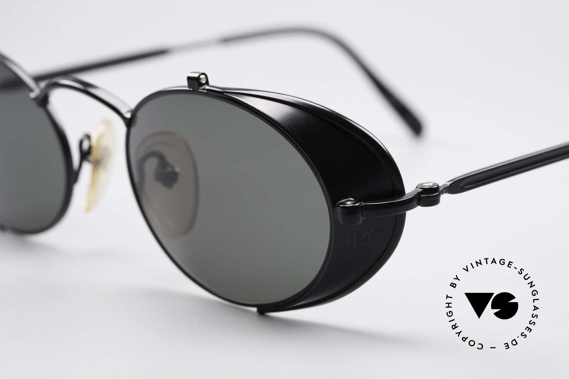 Jean Paul Gaultier 56-1175 Seitenscheiben Sonnenbrille, also einer Sicht auf die Zukunft, aus einer früheren Zeit, Passend für Herren und Damen