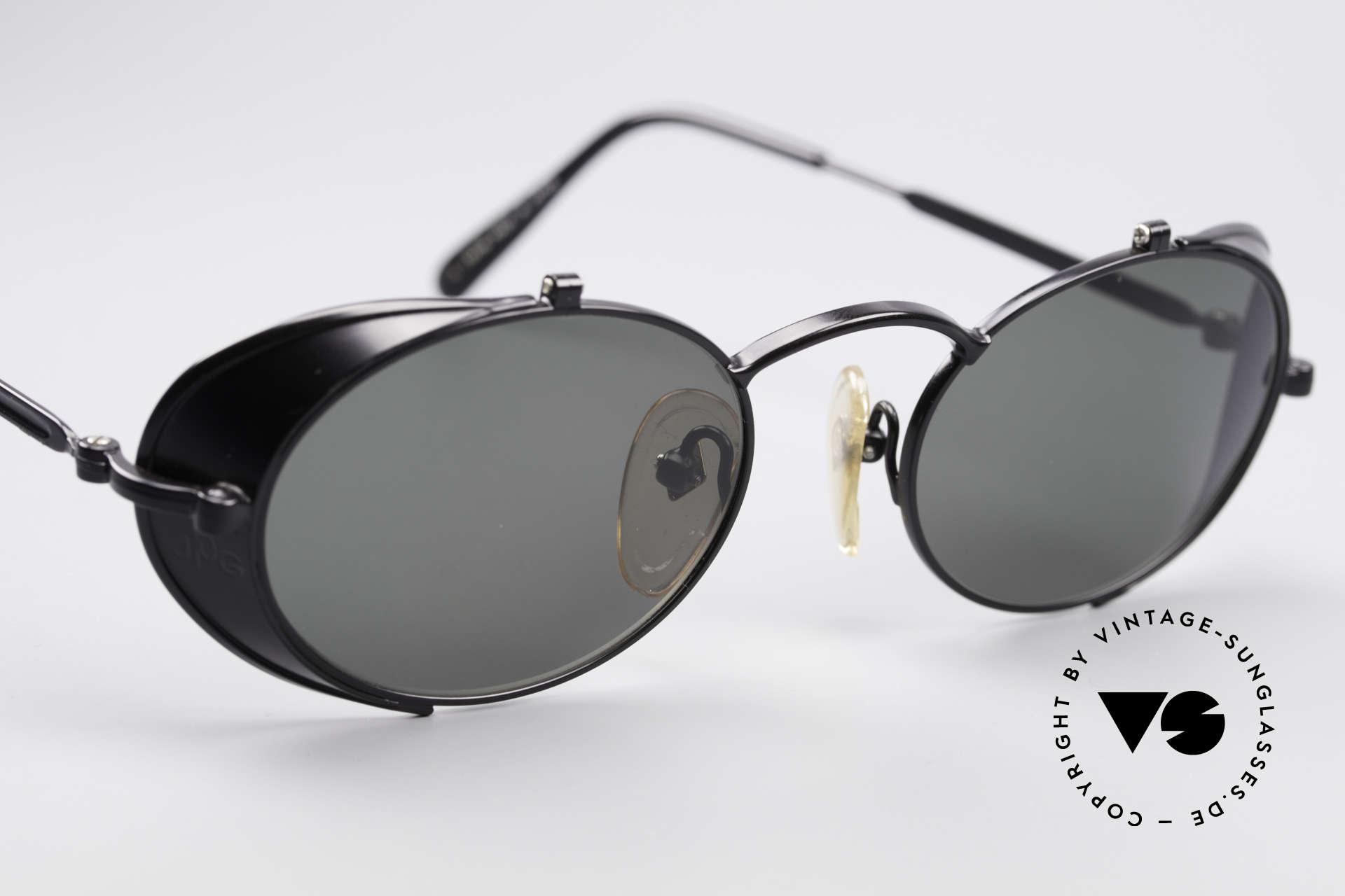 Jean Paul Gaultier 56-1175 Seitenscheiben Sonnenbrille, ungetragenes Einzelstück für Kunst- und Modeliebhaber, Passend für Herren und Damen