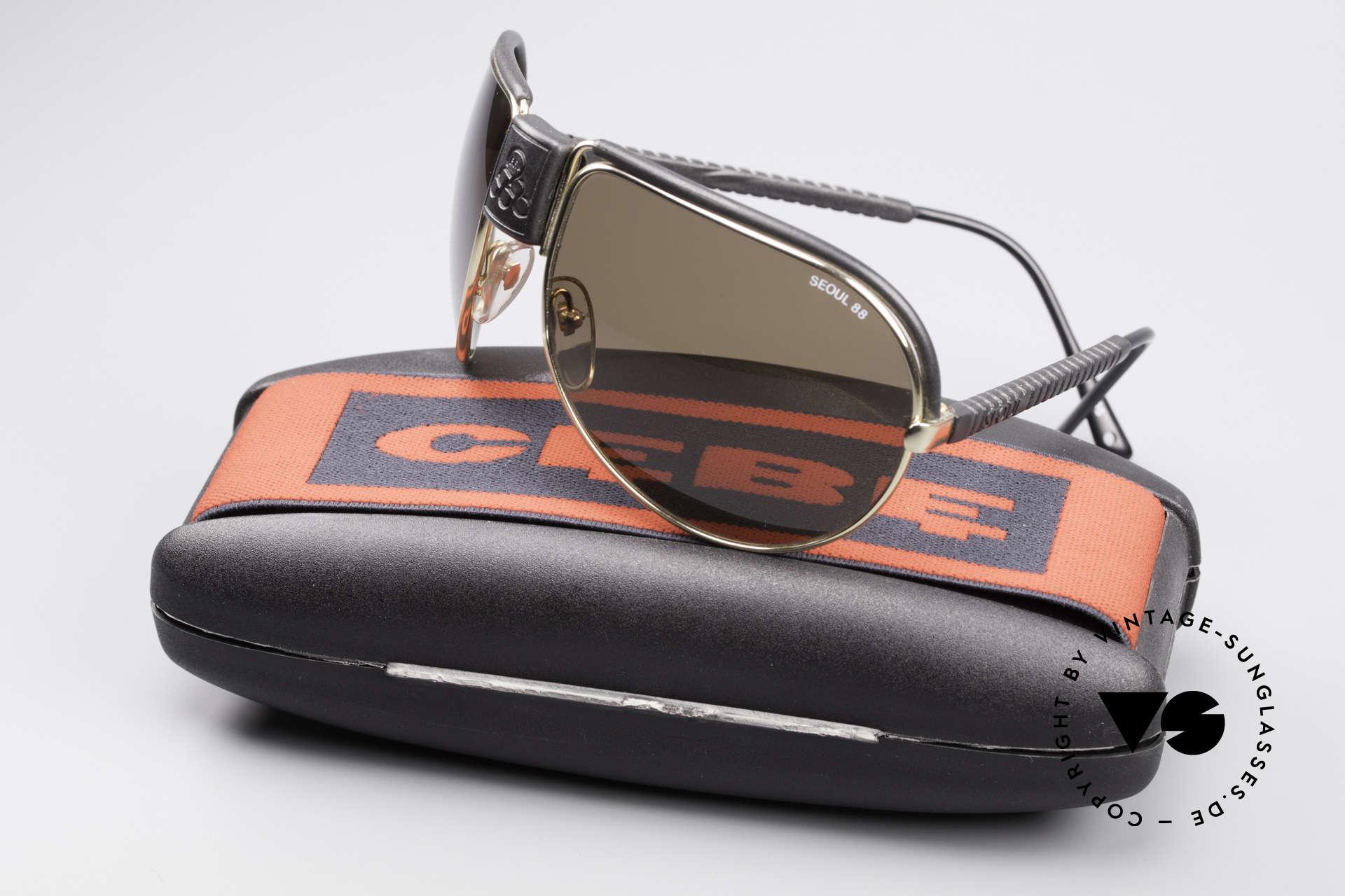 Cebe Seoul 88 Olympische Spiele Brille, ungetragen (wie alle unsere vintage Sportsonnenbrillen), Passend für Herren