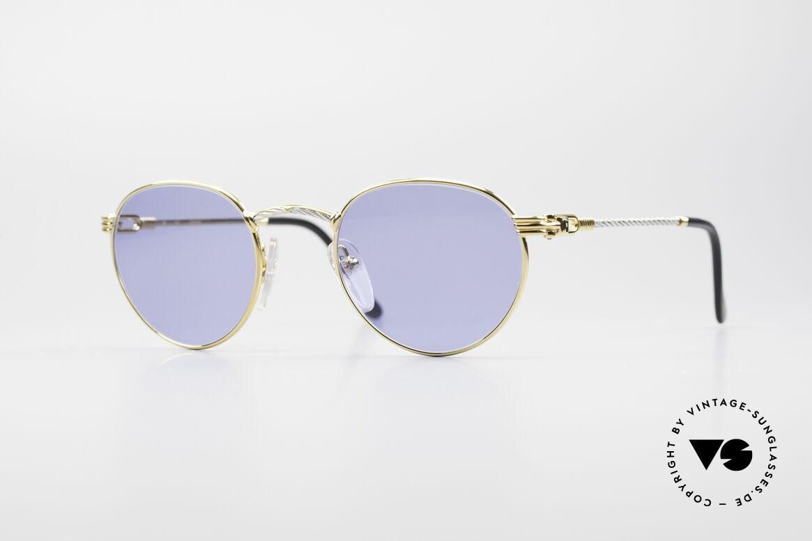 Fred Ouragan Luxus Panto Sonnenbrille, einmalige Designerbrille von Fred, Paris aus den 90ern, Passend für Herren