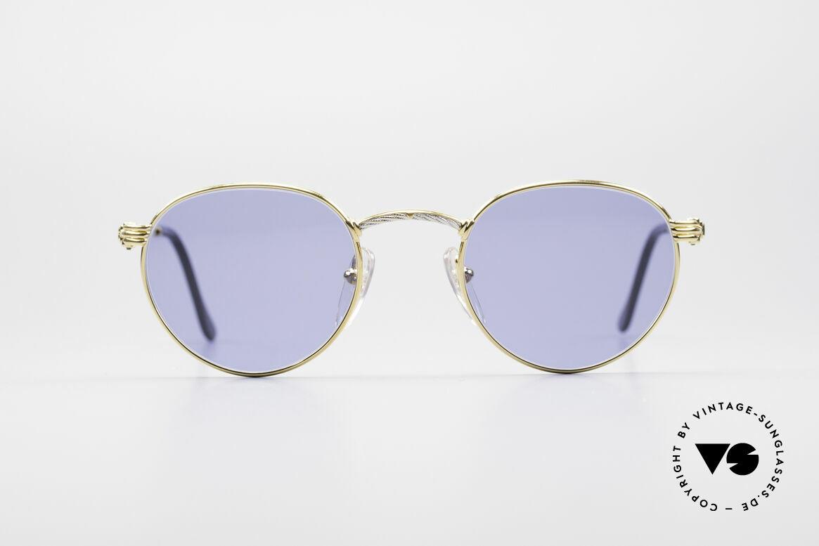 Fred Ouragan Luxus Panto Sonnenbrille, marines Design (charakteristisch Fred) in Top-Qualität, Passend für Herren