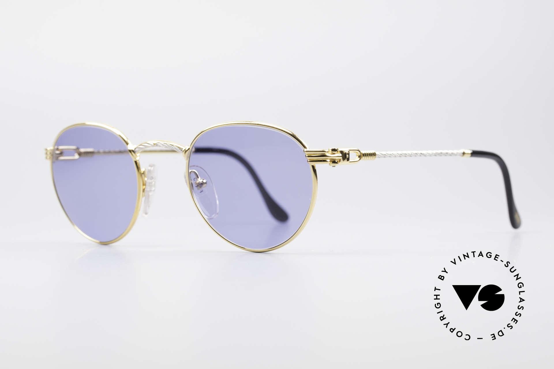 Fred Ouragan Luxus Panto Sonnenbrille, Modell-Name sagt im Grunde alles: 'Ouragan' = 'Sturm', Passend für Herren