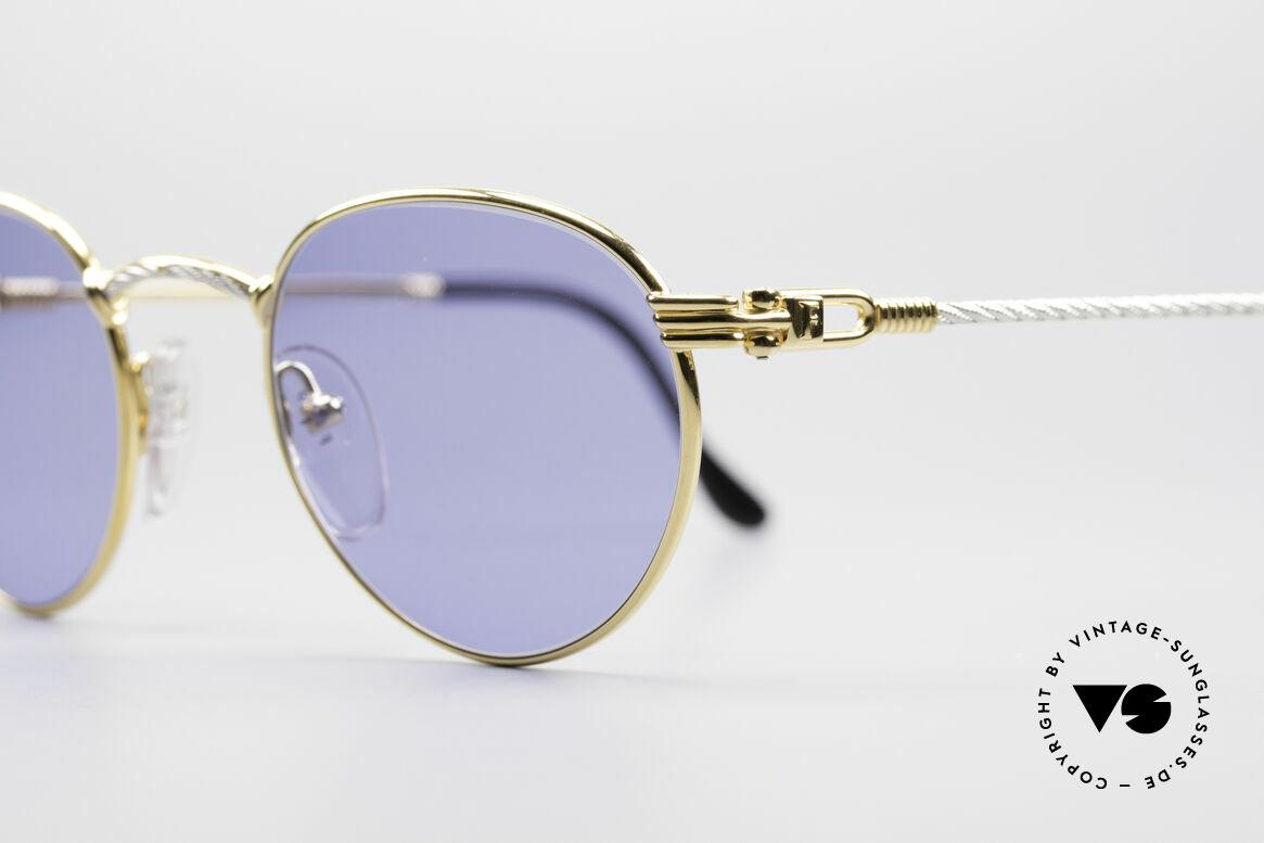 Fred Ouragan Luxus Panto Sonnenbrille, Bügel und Brücke gedreht wie ein Segeltau; ein Unikat!, Passend für Herren