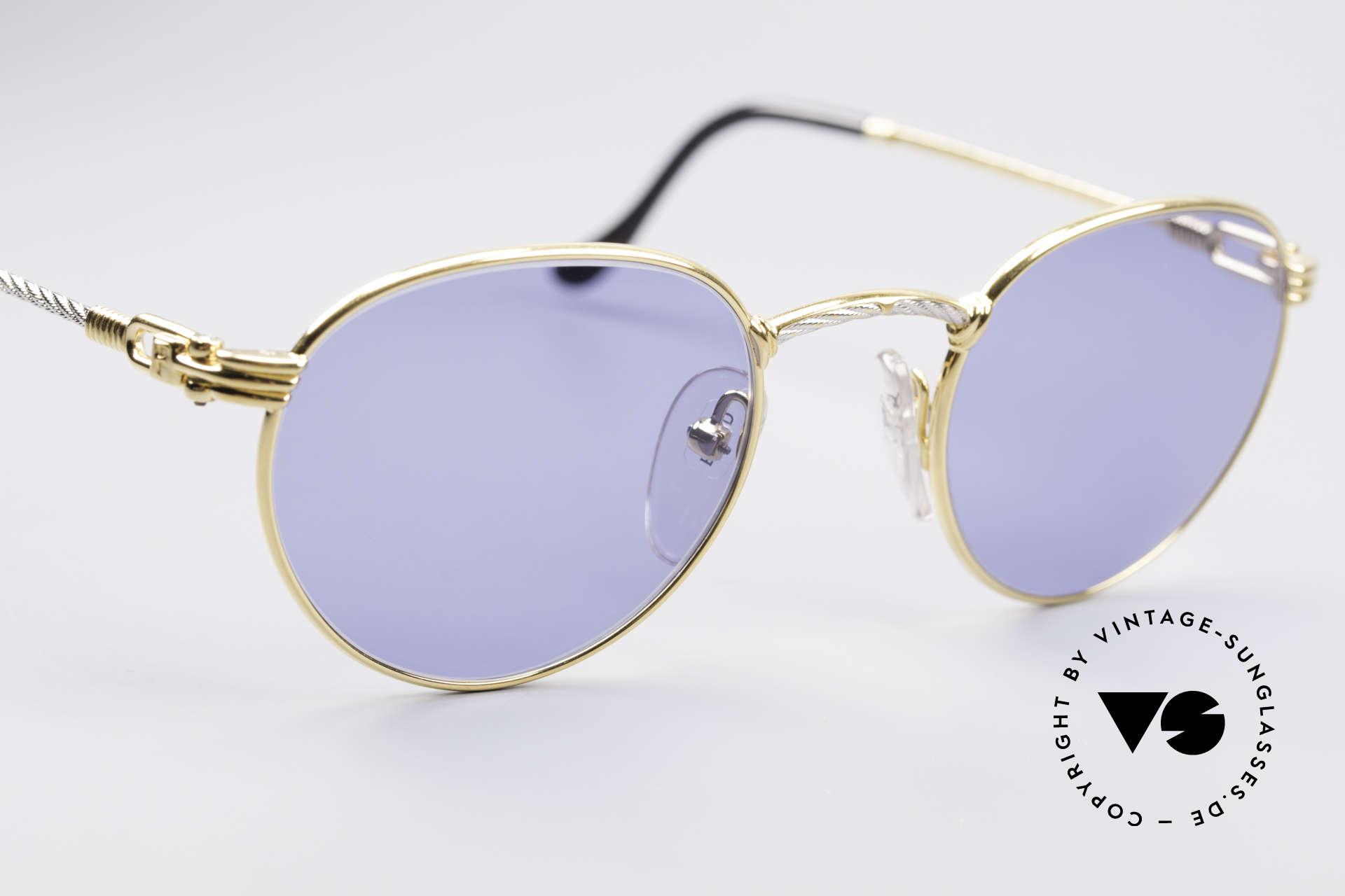 Fred Ouragan Luxus Panto Sonnenbrille, kostbare bicolore Ausführung in Gr. 48°21 + orig. Etui, Passend für Herren
