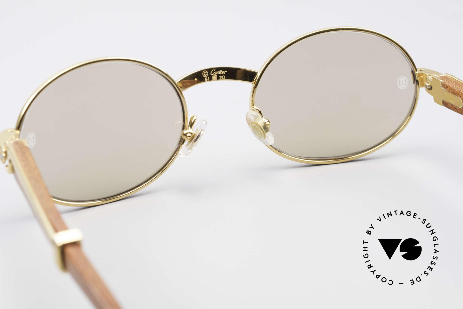 898f624da8 Sonnenbrillen Cartier Giverny Ovale Edelholz Sonnenbrille