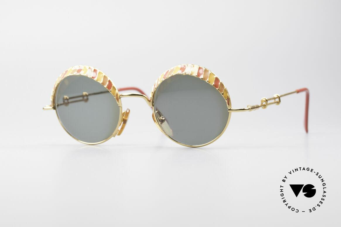 Casanova Arché 4 Limited Gold Plated Brille, zauberhafte Casanova Luxus-Sonnenbrille von 1985, Passend für Herren und Damen