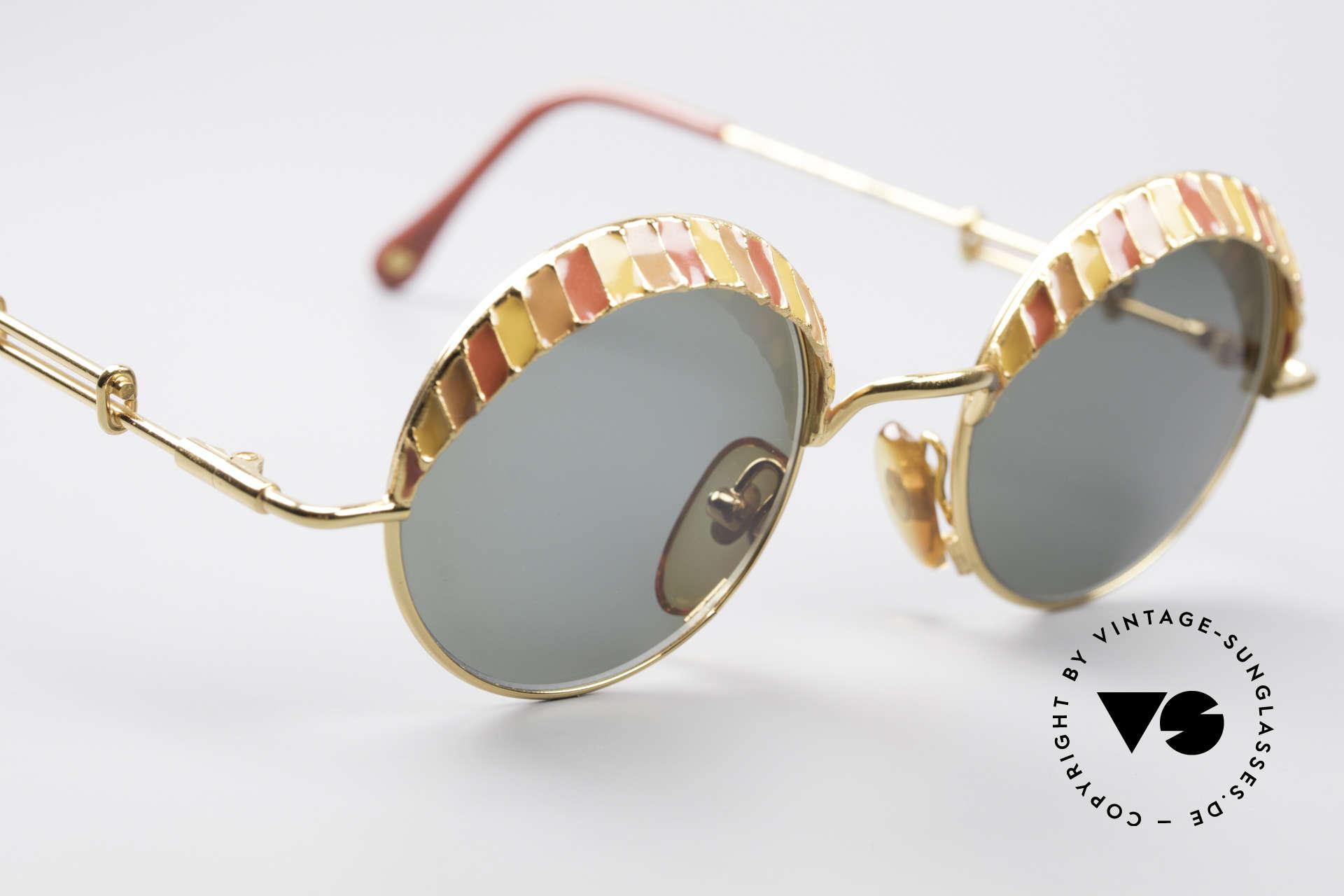 Casanova Arché 4 Limited Gold Plated Brille, Top-Qualität (24Kt GP) & mit Holz-Etui u. Zertifikat, Passend für Herren und Damen