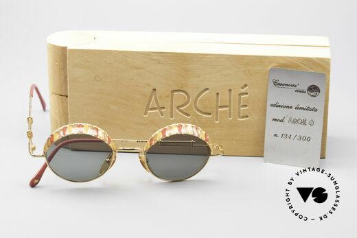 Casanova Arché 4 Limited Gold Plated Brille, ungetragene vintage Rarität; kostbares Sammlerstück, Passend für Herren und Damen