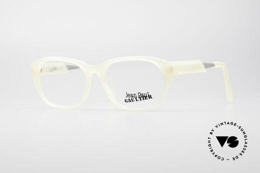 Jean Paul Gaultier 55-1071 Transparente Vintage Brille Details