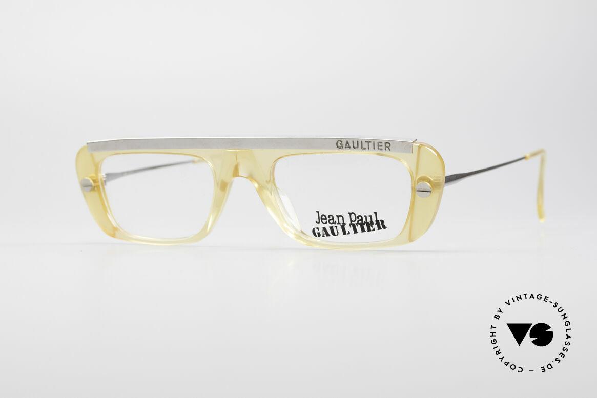 Jean Paul Gaultier 55-0771 Markante Vintage Brille, markante Jean Paul Gaultier vintage Brillenfassung, Passend für Herren und Damen