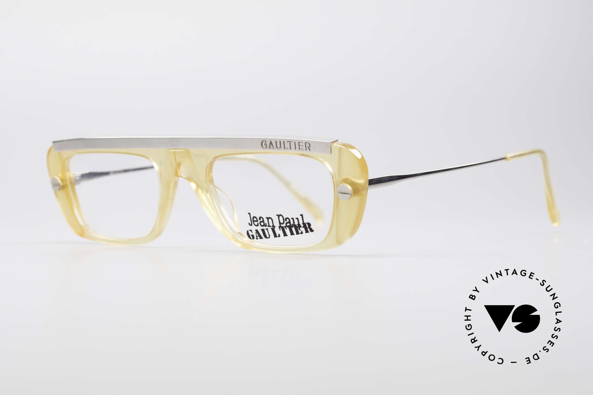 Jean Paul Gaultier 55-0771 Markante Vintage Brille, ein echter Hingucker ... Designerstück von 1997/98, Passend für Herren und Damen