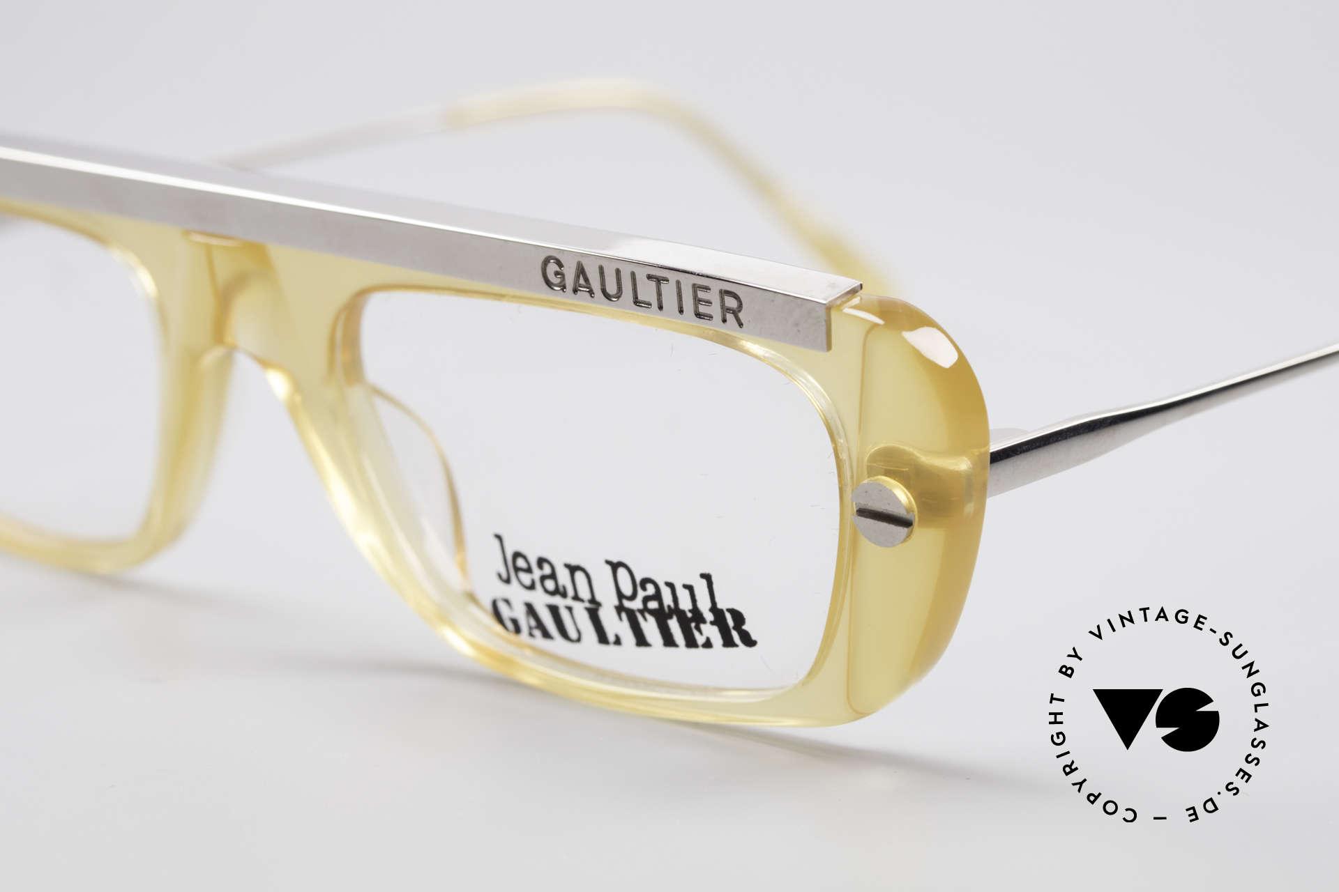 Jean Paul Gaultier 55-0771 Markante Vintage Brille, ungetragen, NOS (wie alle unsere alten JPG Brillen), Passend für Herren und Damen