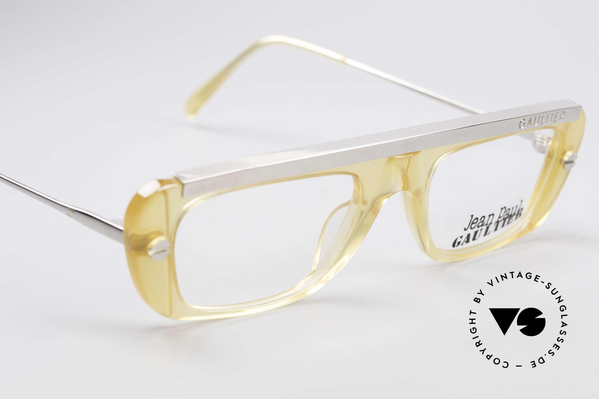 Jean Paul Gaultier 55-0771 Markante Vintage Brille, KEINE RETROBRILLE; ein seltenes altes ORIGINAL!, Passend für Herren und Damen