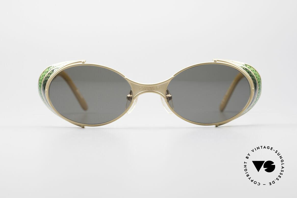 Jean Paul Gaultier 56-7109 Steampunk Sonnenbrille, 'Steampunk-Sonnenbrille' des exzentrischen Designers, Passend für Herren und Damen