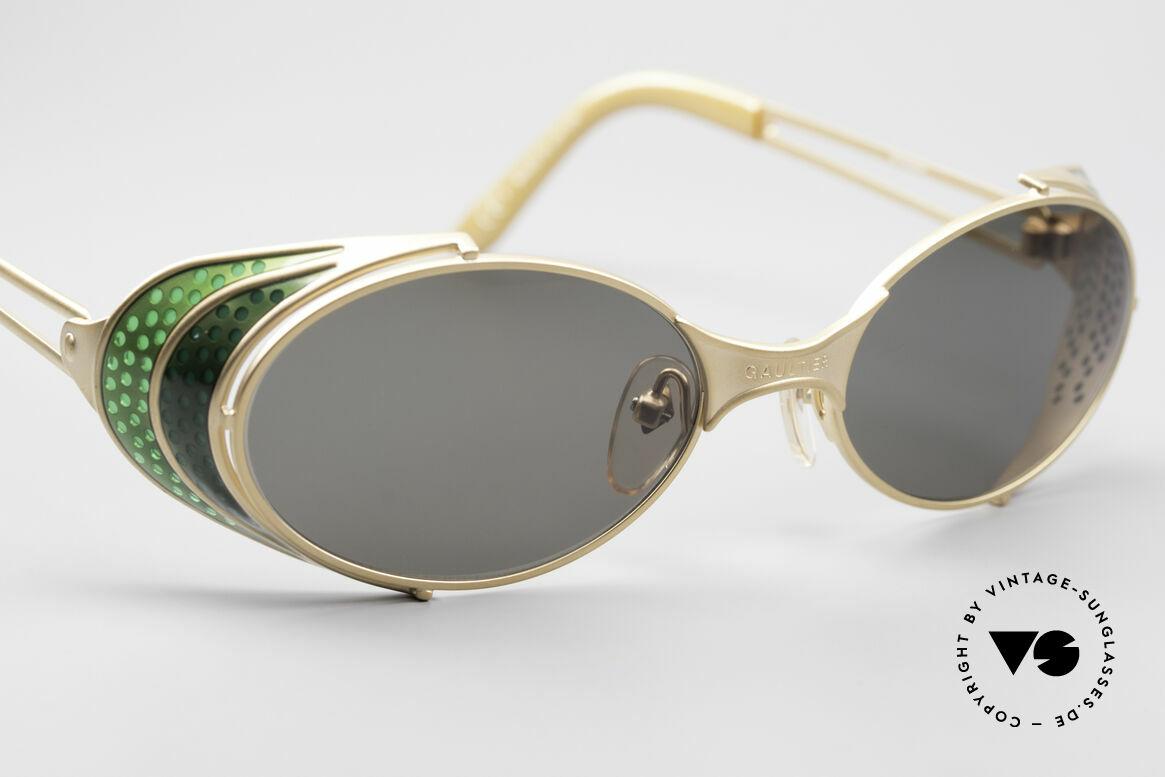 Jean Paul Gaultier 56-7109 Steampunk Sonnenbrille, ungetragenes Einzelstück für Kunst- und Modeliebhaber, Passend für Herren und Damen