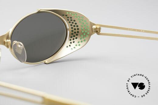 Jean Paul Gaultier 56-7109 Steampunk Sonnenbrille, KEINE Retrobrille, sondern ein ca. 25 Jahre altes Unikat, Passend für Herren und Damen