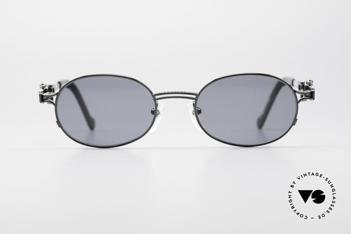 Jean Paul Gaultier 56-0020 Ovale Gürtelschnalle Brille, herausragende Top-Qualität; ovale Titanium-Fassung, Passend für Herren