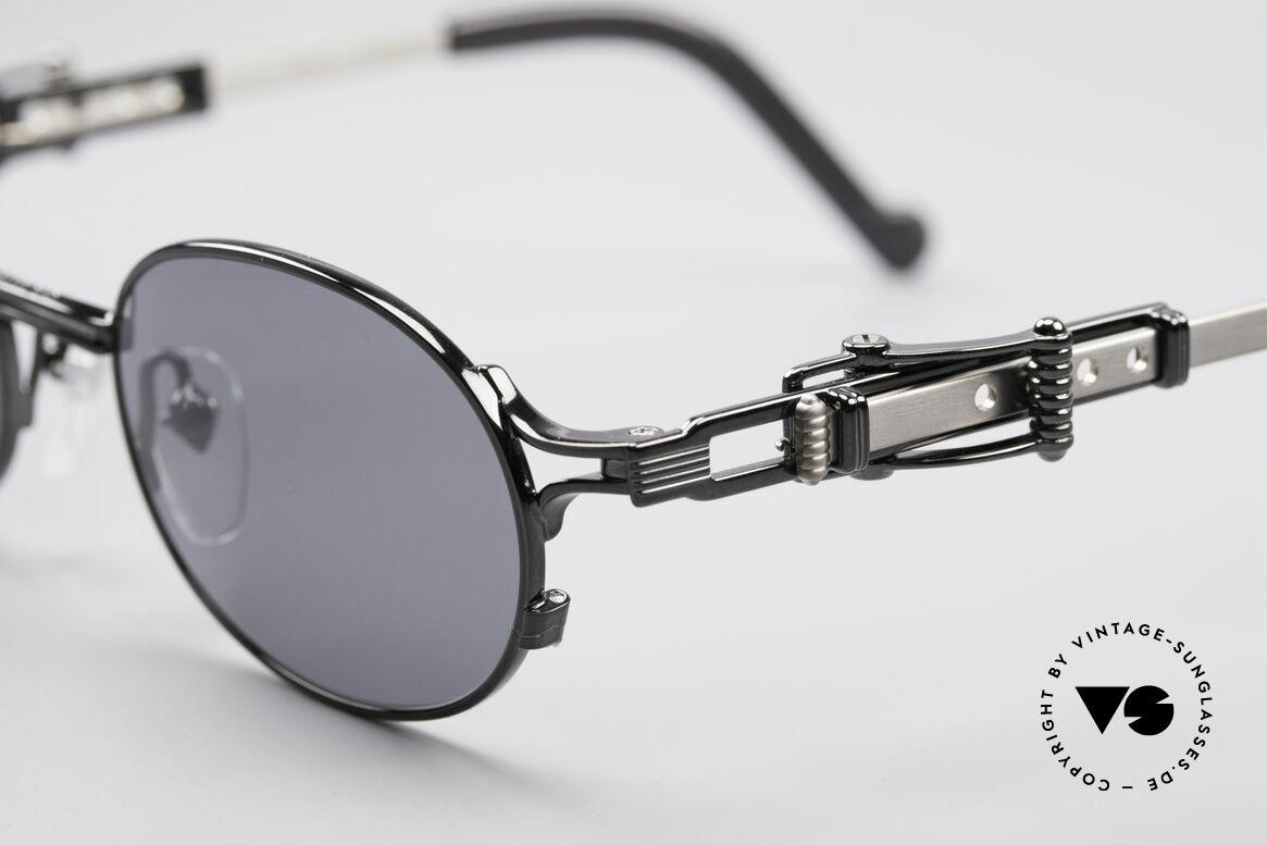 Jean Paul Gaultier 56-0020 Ovale Gürtelschnalle Brille, verstellbare Bügel in Form einer Gürtelschnalle; genial!, Passend für Herren