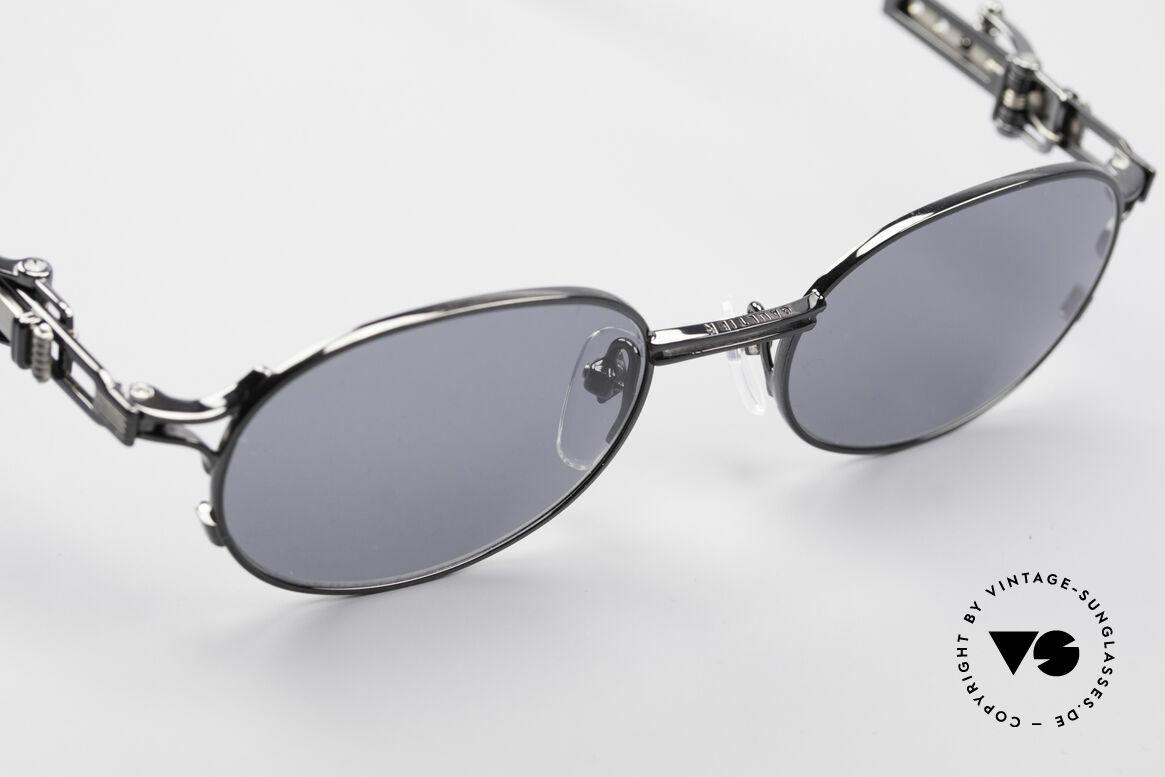 Jean Paul Gaultier 56-0020 Ovale Gürtelschnalle Brille, ungetragenes Designerstück: kostbar, selten und begehrt, Passend für Herren