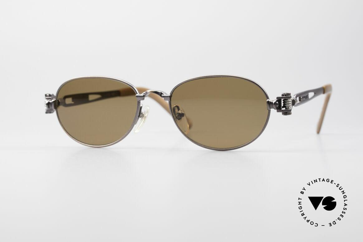 Jean Paul Gaultier 56-8102 Steampunk Vintage Brille, interessante vintage Jean Paul Gaultier Sonnenbrille, Passend für Herren und Damen