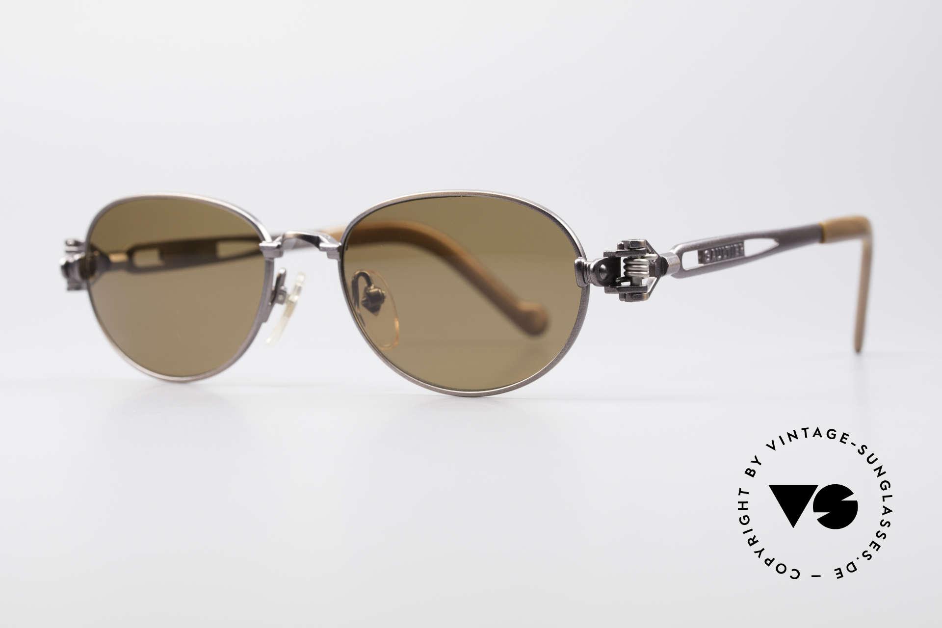 Jean Paul Gaultier 56-8102 Steampunk Vintage Brille, Brille mit vielen mechanischen Komponenten / Details, Passend für Herren und Damen
