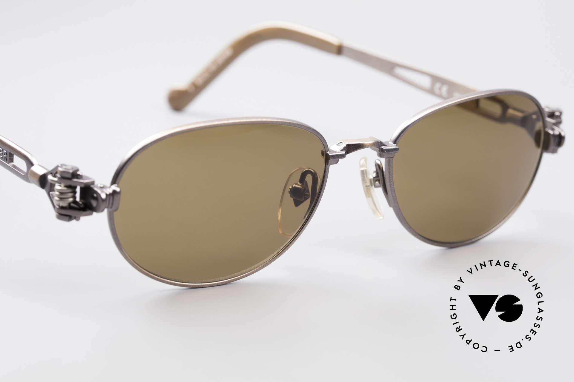 Jean Paul Gaultier 56-8102 Steampunk Vintage Brille, KEINE RetroSonnenbrille; ein altes ORIGINAL von 1995, Passend für Herren und Damen