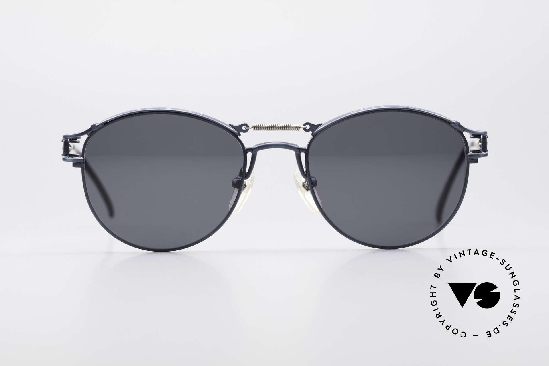 Jean Paul Gaultier 56-5107 Panto Designer Sonnenbrille, großartiges, mechanisches Design ('Industrial Stil'), Passend für Herren und Damen
