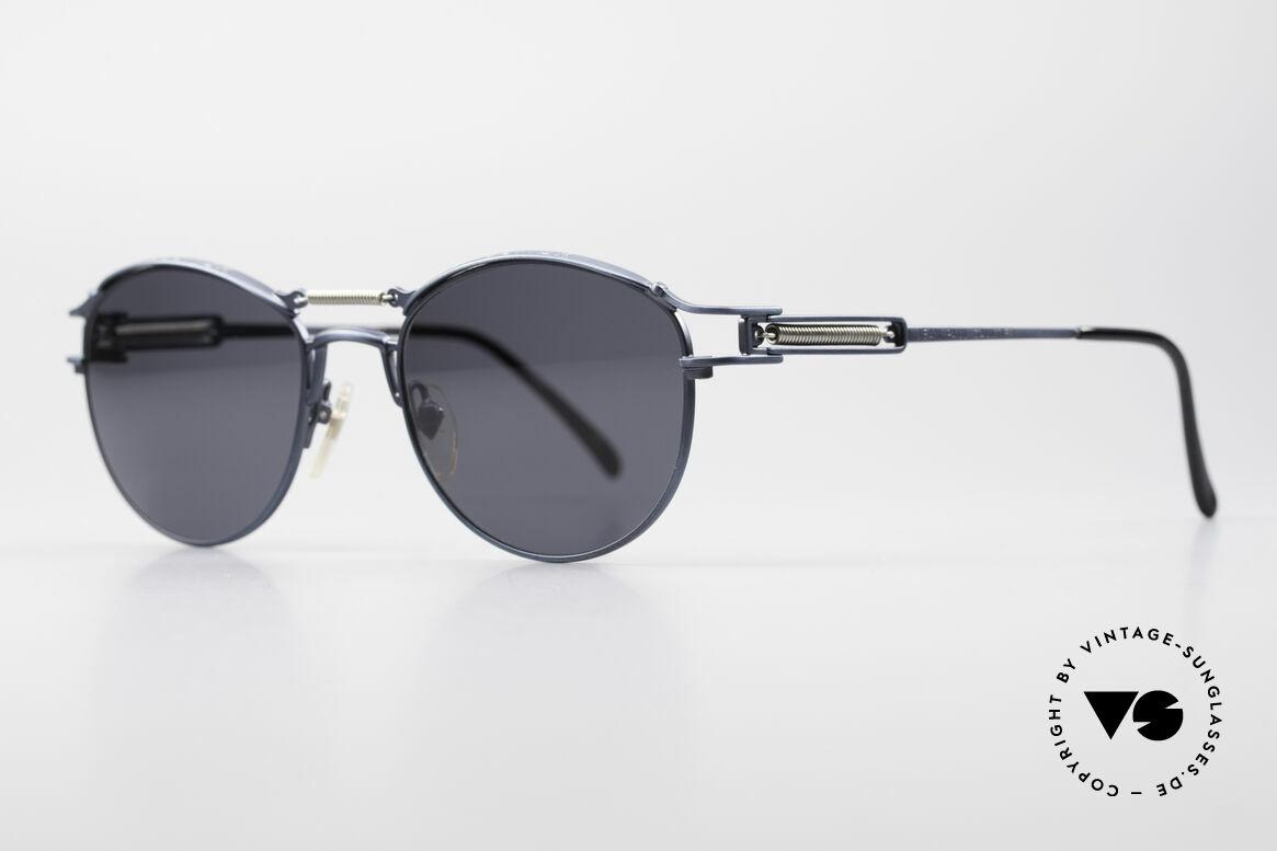 Jean Paul Gaultier 56-5107 Panto Designer Sonnenbrille, Brücke und Bügel sind mit Sprungfedern ausgestattet, Passend für Herren und Damen