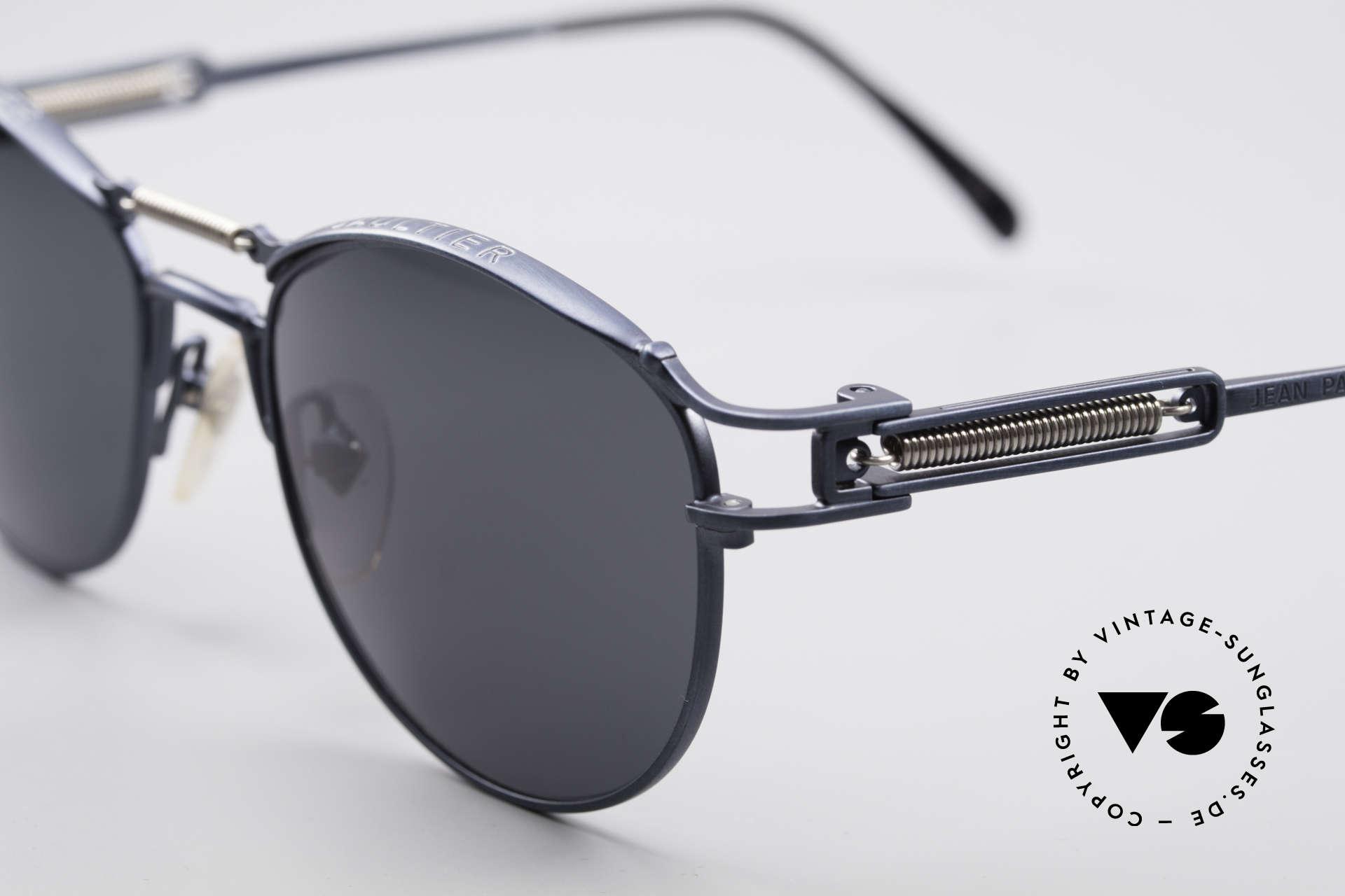 Jean Paul Gaultier 56-5107 Panto Designer Sonnenbrille, Wahnsinnsqualität, made in Japan (Muss man fühlen!), Passend für Herren und Damen