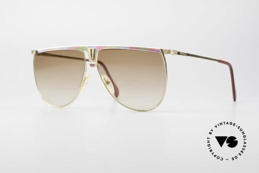 AVUS 2-100 80er Vintage Sonnenbrille Details