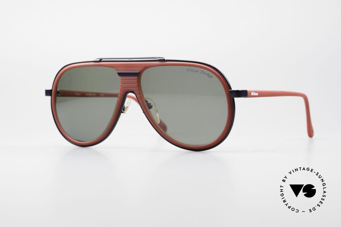 Nikon NK4800 Rare 80er Premium Brille, 80er Jahre vintage Sonnenbrille von Nikon, Japan, Passend für Herren