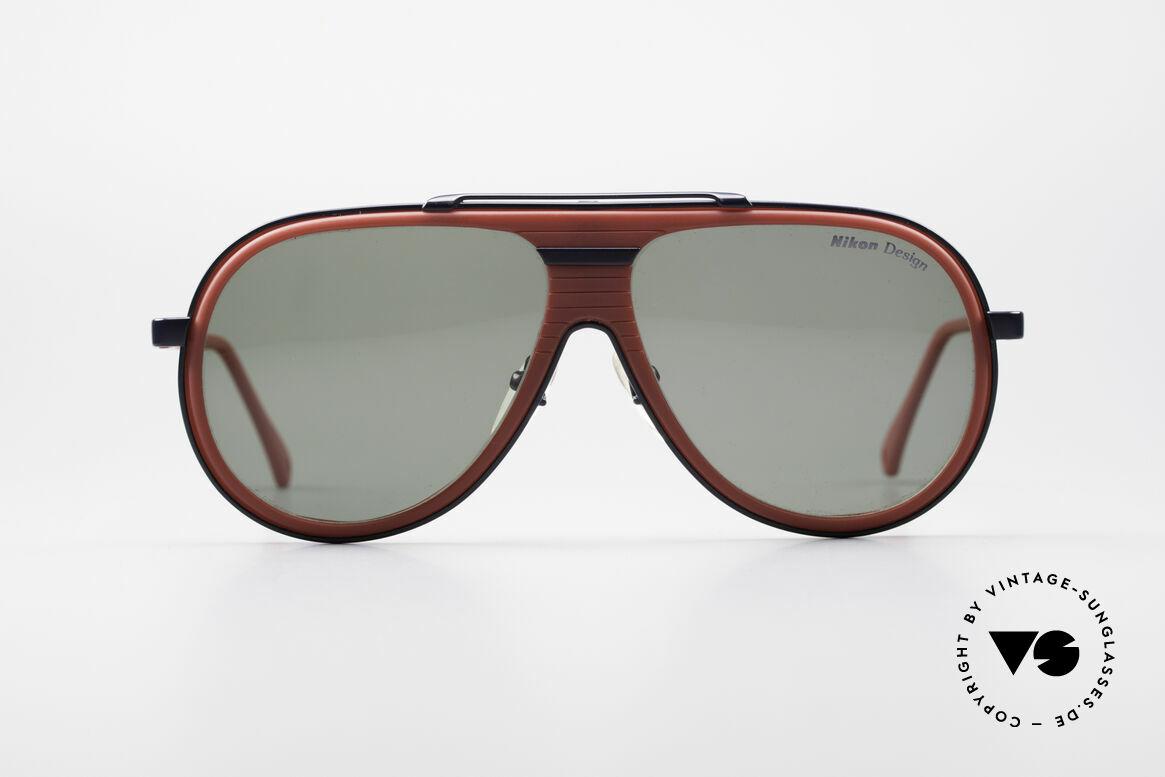 Nikon NK4800 Rare 80er Premium Brille, edle Kunststoff- u. Metallkombination (100% UV), Passend für Herren