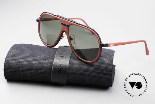 Nikon NK4800 Rare 80er Premium Brille, dieses XL-Modell kommt mit einem McQueen Etui, Passend für Herren