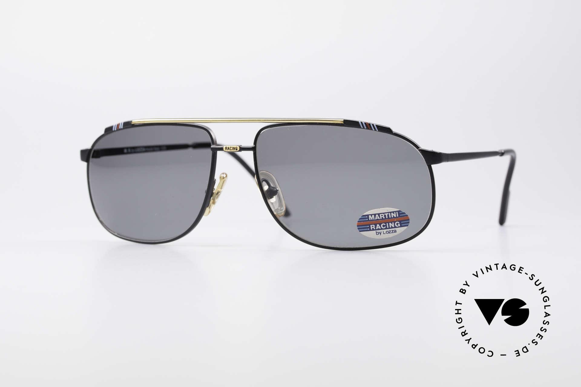Martini Racing - Tenere Rennfahrer Sonnenbrille, in den 70ern, Martini wurde berühmt in Verbindung mit, Passend für Herren