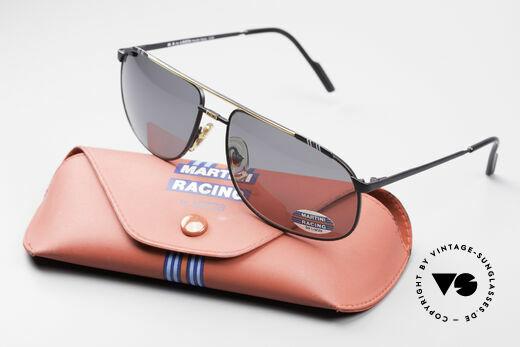 Martini Racing - Tenere Rennfahrer Sonnenbrille, mit den charakteristischen Martini-Streifen (blau-rot), Passend für Herren