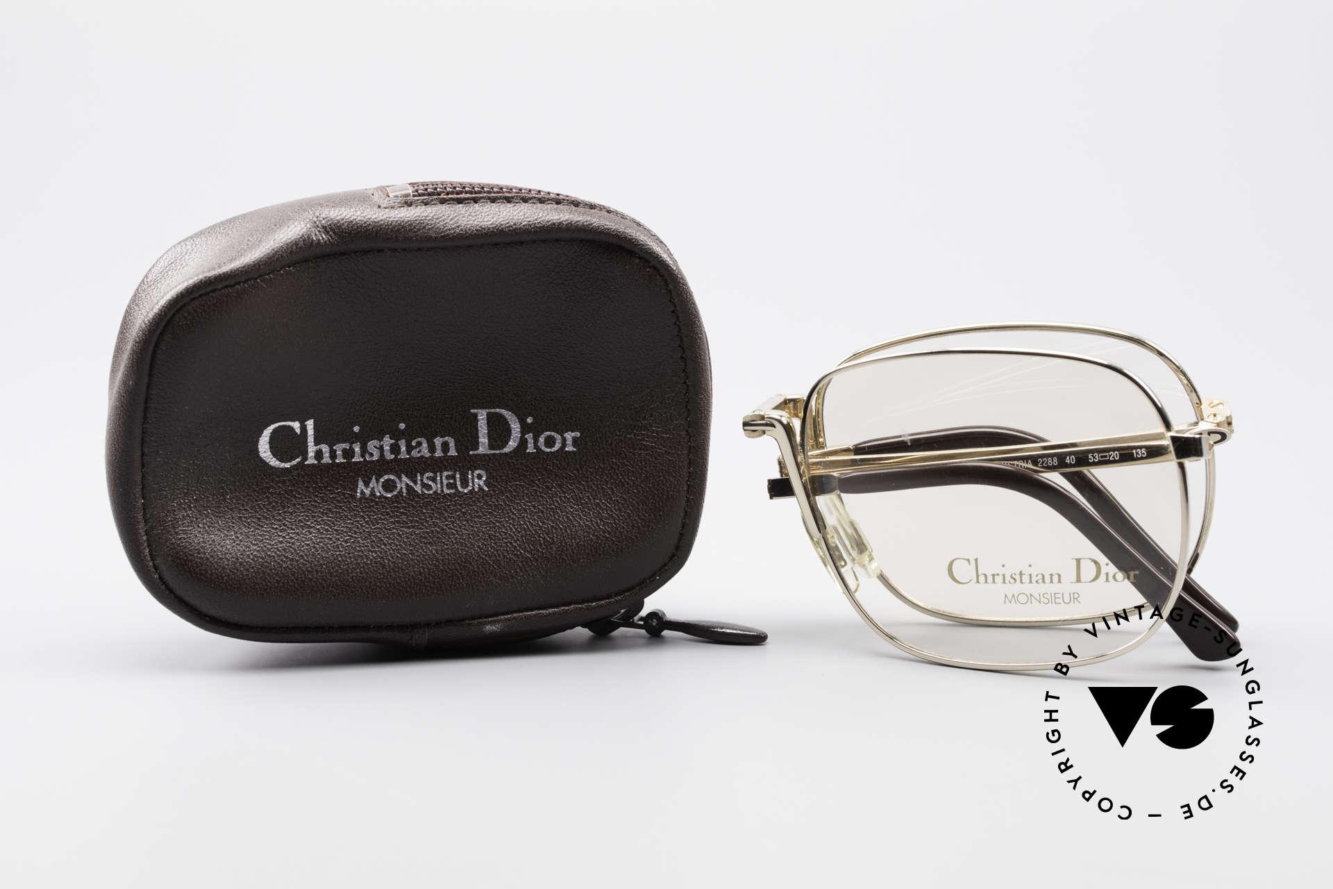 Christian Dior 2288 Monsieur Vintage Faltbrille, Rahmen ist gemacht für Sonnen- od. optische Gläser, Passend für Herren