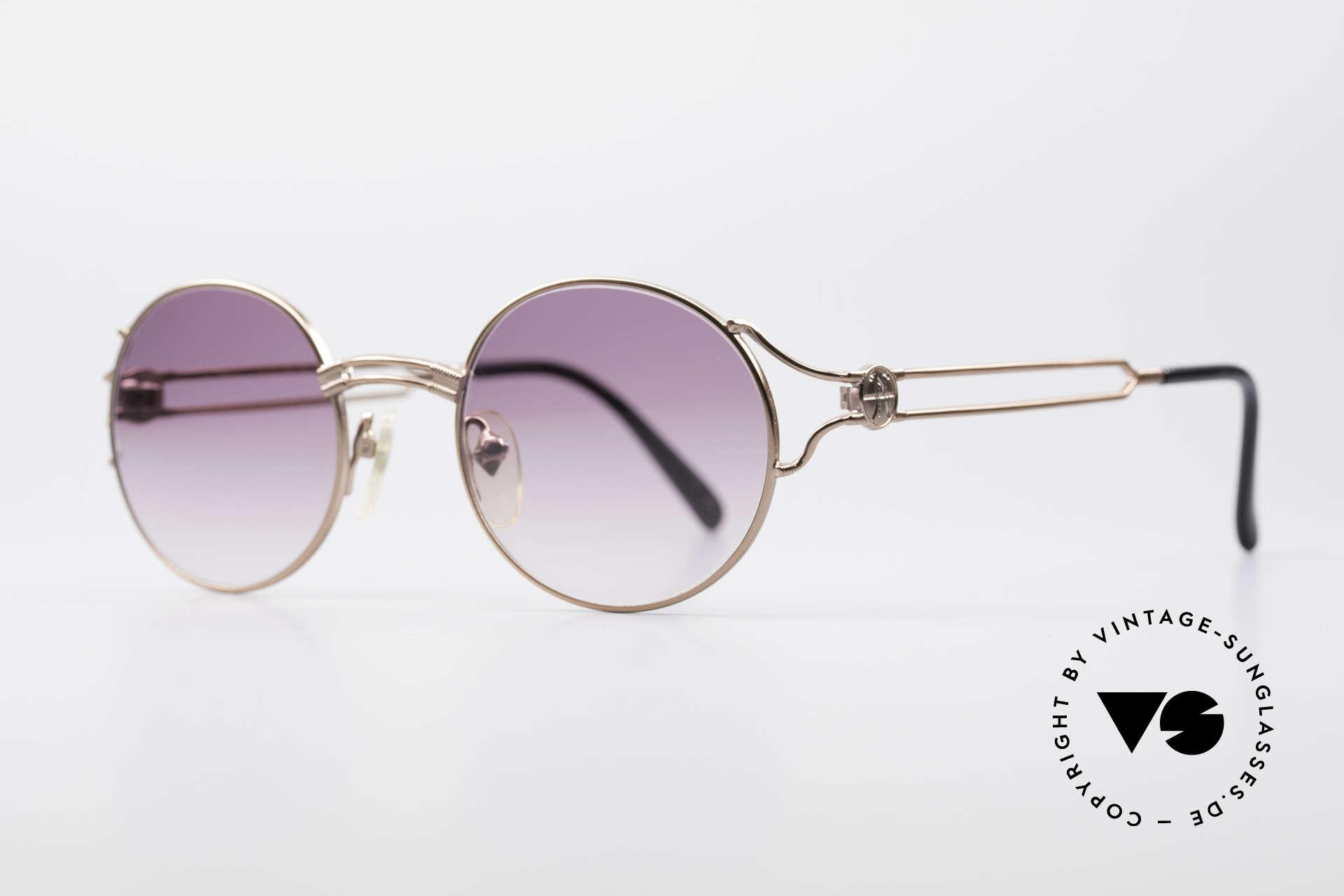 Jean Paul Gaultier 57-6102 Runde Designersonnenbrille, zeitloses Designerstück von herausragender Qualität, Passend für Herren und Damen