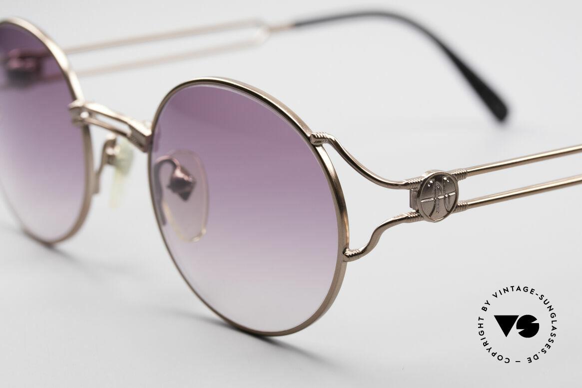 Jean Paul Gaultier 57-6102 Runde Designersonnenbrille, ungetragen (wie alle unsere vintage GAULTIER Brillen), Passend für Herren und Damen