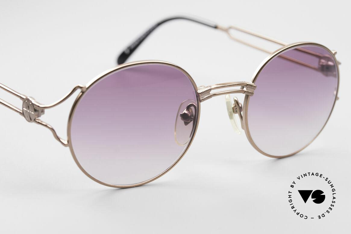 Jean Paul Gaultier 57-6102 Runde Designersonnenbrille, KEINE RETRObrille; ein kostbares ORIGINAL von 1996!, Passend für Herren und Damen