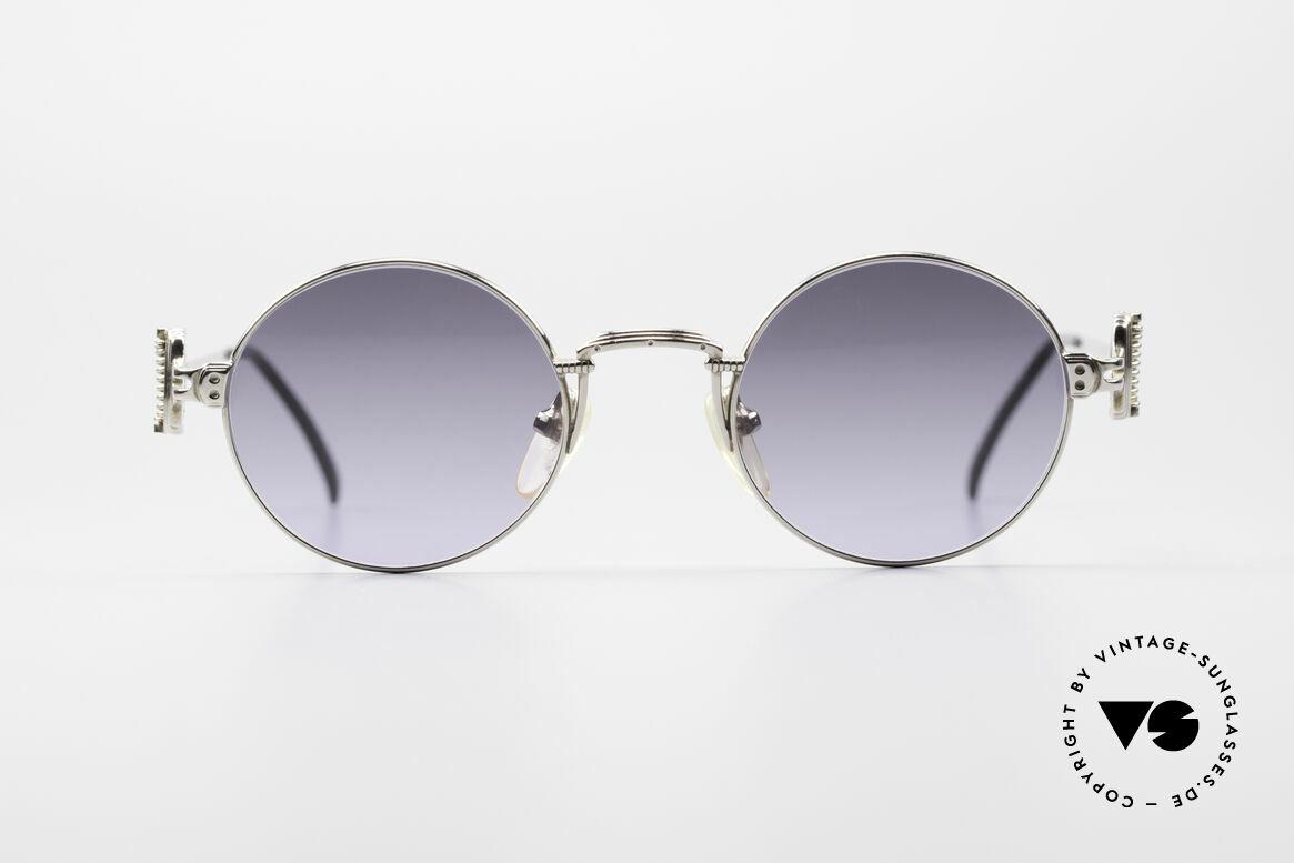 Jean Paul Gaultier 55-5106 Steampunk Sonnenbrille, leichtes Gestell mit großartigen Details (Bügelansatz), Passend für Herren und Damen