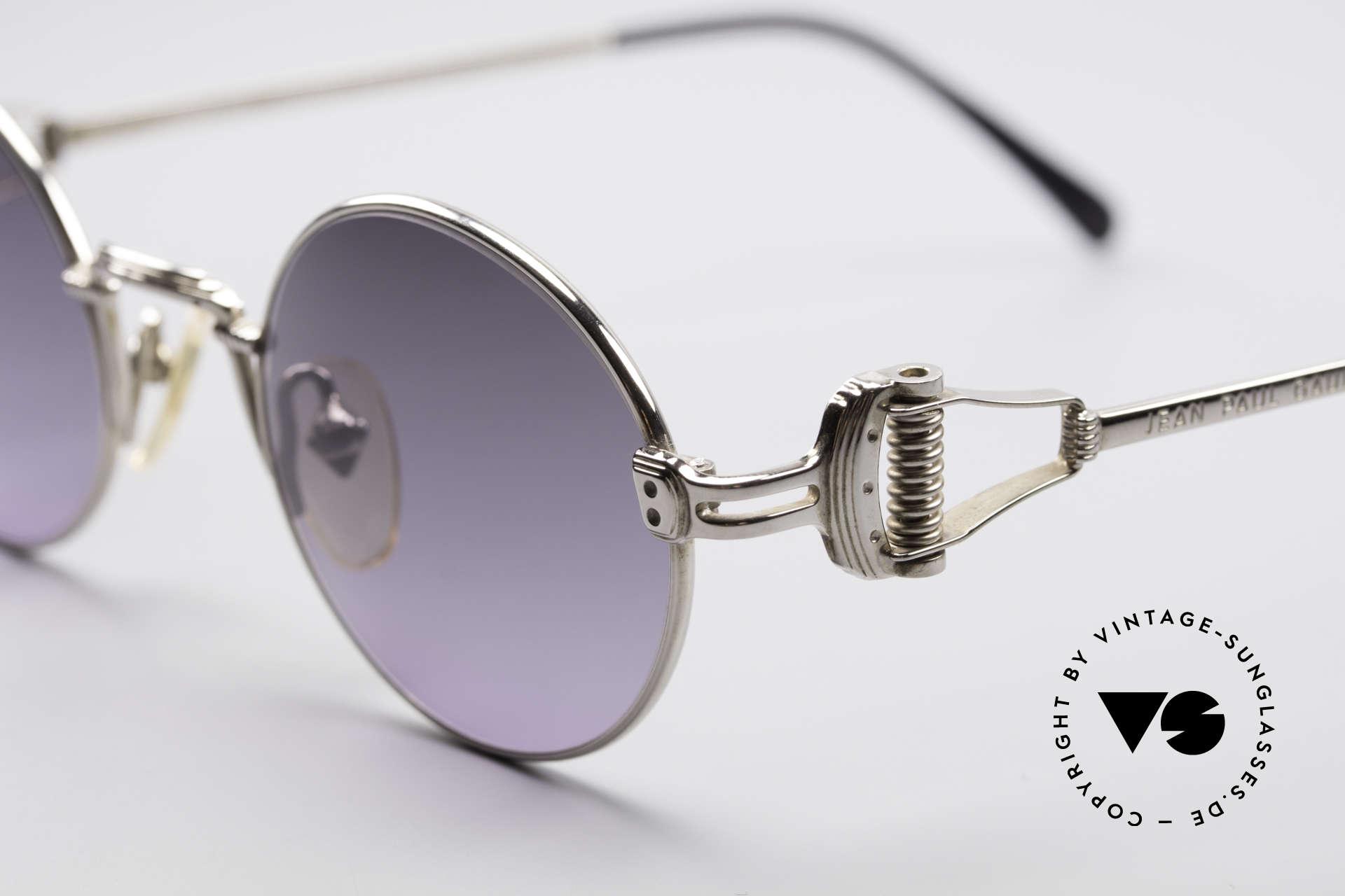 Jean Paul Gaultier 55-5106 Steampunk Sonnenbrille, sehr originelle Sonnengläser (grau-violett verlaufend), Passend für Herren und Damen