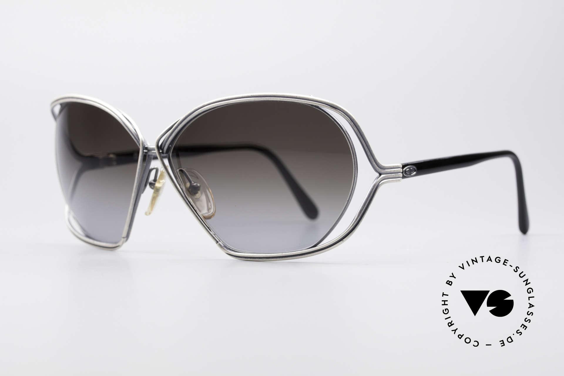 Christian Dior 2499 Damen Sonnenbrille 80er, schwungvoll, künstlerische Rahmengestaltung, top!, Passend für Damen