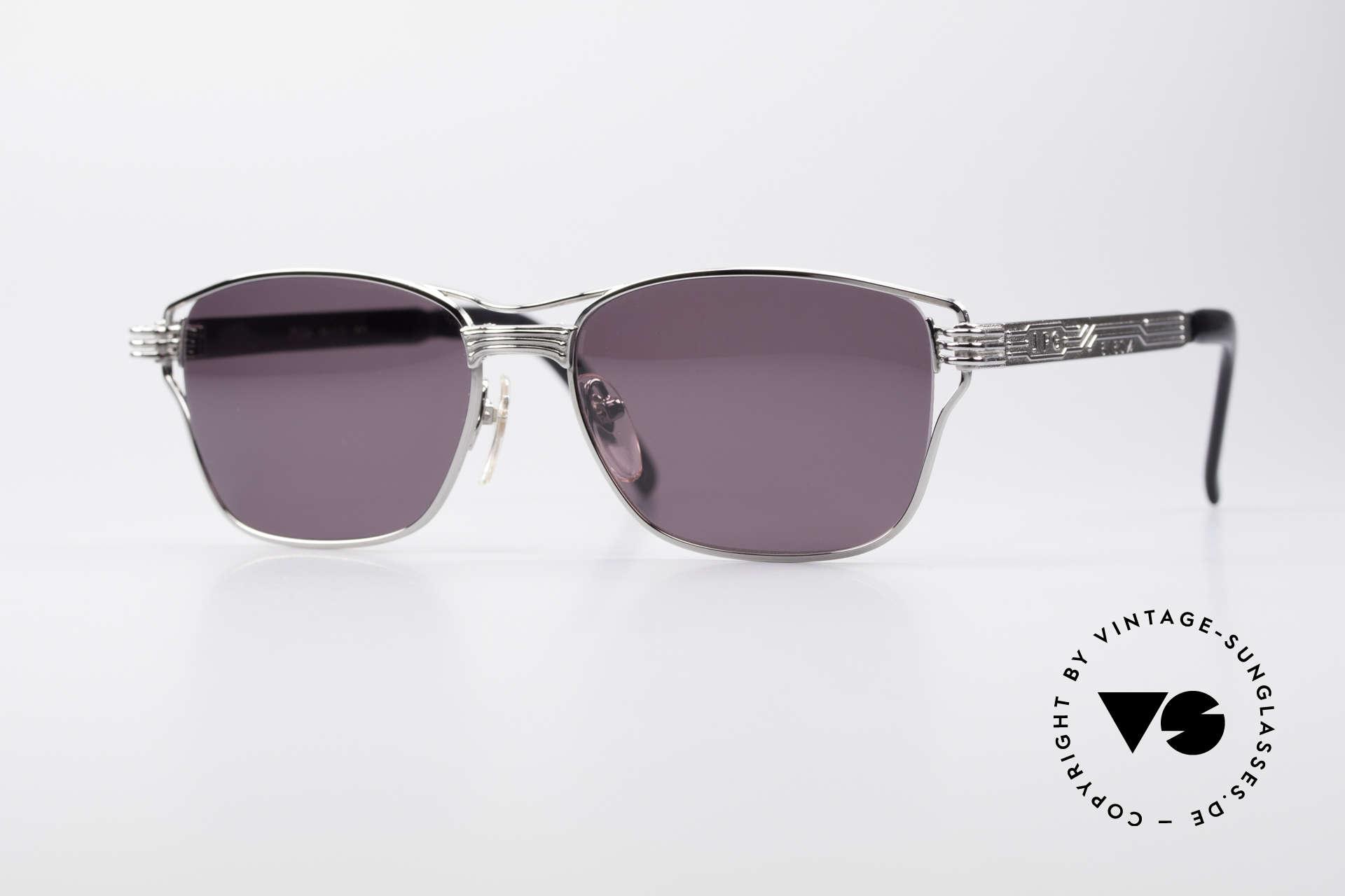 Jean Paul Gaultier 56-4173 Markante Eckige Sonnenbrille, eckige, markante Gaultier Designersonnenbrille, Passend für Herren