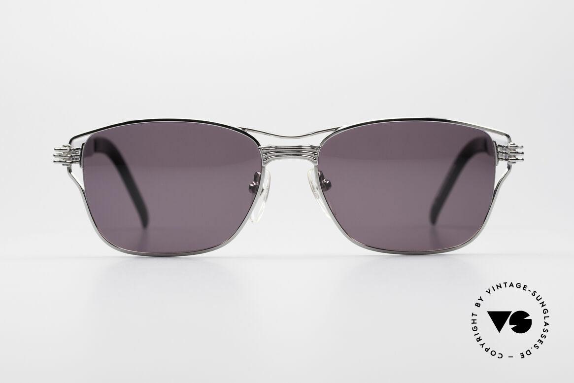 Jean Paul Gaultier 56-4173 Markante Eckige Sonnenbrille, typisches mechanisches J.P.G. Industrie-Design, Passend für Herren